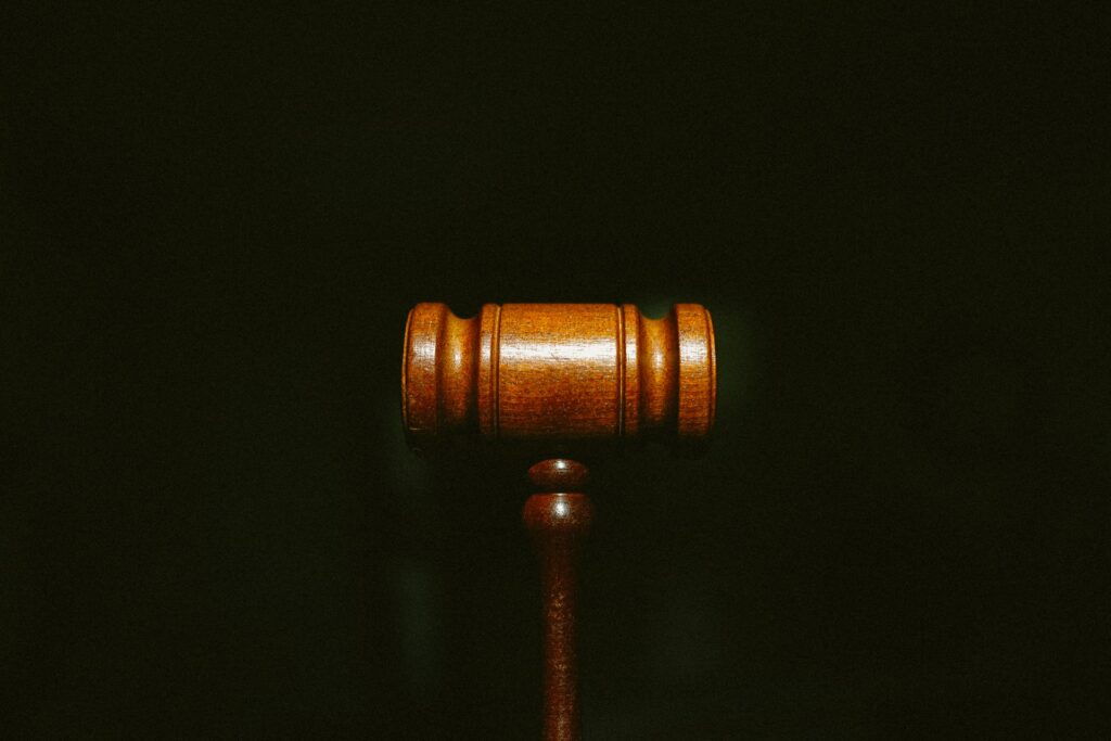 a lawyer's gavel